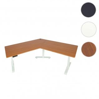 Schreibtisch HWC-D40, Computertisch, 120° elektrisch höhenverstellbar ~ natur, weiß