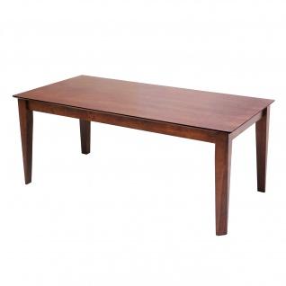 Esstisch HWC-G64, Esszimmertisch Küchentisch Holztisch Tisch, rechteckig Massiv-Holz ~ 180x90cm
