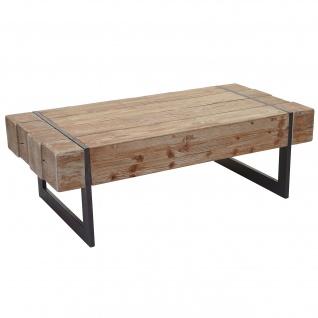 Couchtisch HWC-A15a, Wohnzimmertisch, Tanne Holz rustikal massiv 40x120x60cm