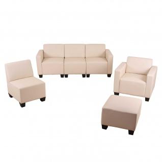 Modular Sofa-System Garnitur Lyon 3-1-1-1 ~ creme