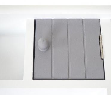 Schlüsselbrett HWC-A48, Schlüsselkasten Schlüsselboard mit Türen, Massiv-Holz ~ grau-weiß - Vorschau 4