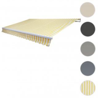 Bezug für Markise T791, Gelenkarmmarkise Ersatzbezug Sonnenschutz, 4, 5x3m ~ Polyester gelb-weiß