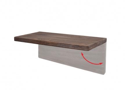 Wandtisch HWC-H48, Wandklapptisch Wandregal Tisch, klappbar Massiv-Holz ~ 100x50cm shabby braun - Vorschau 4