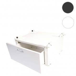 Waschmaschinenunterschrank HWC-E50, Sockel Podest Erhöhung Untergestell, Schublade 33x61x52cm ~ weiß