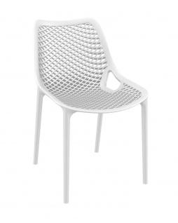 Gartenstuhl CP336, Bistrostuhl Stuhl ~ weiß