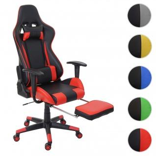 Relax-Bürostuhl HWC-D25 XXL, Schreibtischstuhl Gamingstuhl, 150kg belastbar Fußstütze ~ schwarz/rot