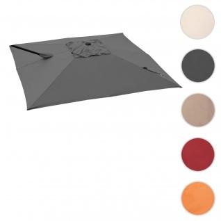 Bezug für Ampelschirm HWC-A39, Sonnenschirmbezug Ersatzbezug, 3x3m (Ø4, 24m) Polyester 2, 8kg ~ anthrazit