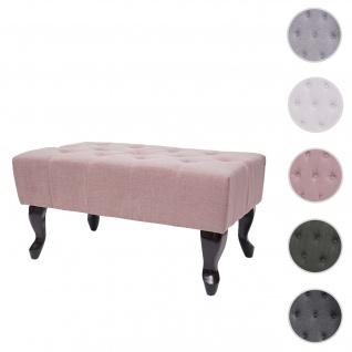 Ottomane Chesterfield, Sitzhocker Fußablage Hocker, wasserabweisend Stoff/Textil 39x77x47cm ~ vintage rosa