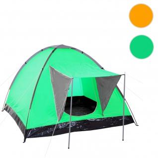 Campingzelt Loksa, 2-Mann Zelt Kuppelzelt Igluzelt Festival-Zelt, 2 Personen ~ grün
