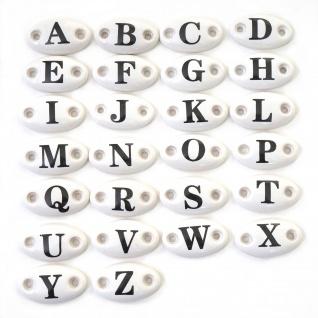 Button A-Z HWC-A43, Buchstaben Letter Schild Deko, Keramik, Zubehör