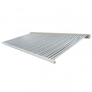 Elektrische Kassettenmarkise T123, Markise Vollkassette 4, 5x3m ~ Polyester Grau/Weiß