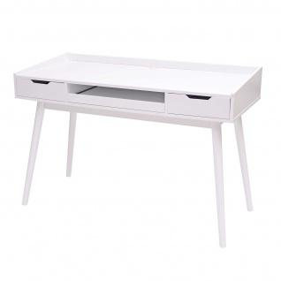 Schreibtisch HWC-A70b, Bürotisch Computertisch, MDF 120x55cm ~ weiß - Vorschau 3