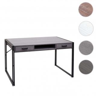 Schreibtisch HWC-A27, Bürotisch Computertisch, 122x70cm 3D-Struktur ~ grau