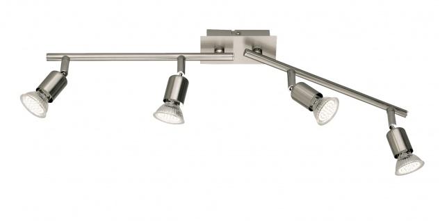 Reality Trio LED Deckenleuchte Deckenlampe nickel matt inkl. Leuchtmittel ~ 4 flammig, 10W