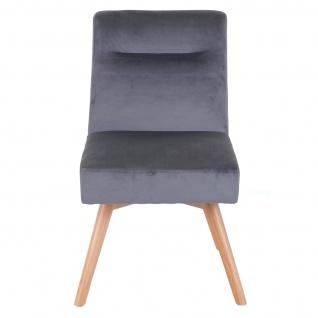 6x Esszimmerstuhl HWC-F38, Stuhl Küchenstuhl, Retro Design Samt - Vorschau 4