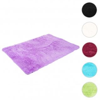 Teppich HWC-F69, Shaggy Läufer Hochflor Langflor, Stoff/Textil flauschig weich 200x140cm ~ lila