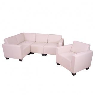 Modular Sofa-System Garnitur Lyon 4-1 ~ creme