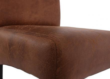2x Barhocker HWC-C33, Barstuhl Tresenhocker, Holz ~ Wildlederimitat, dunkle Beine, Stoff/Textil - Vorschau 5