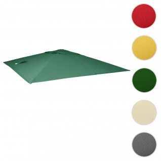 Bezug für Luxus-Ampelschirm HWC-A96, Sonnenschirmbezug Ersatzbezug, 3x3m (Ø4, 24m) Polyester 2, 7kg ~ dunkelgrün