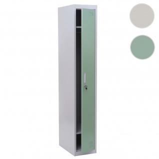 Spind Boston T163, Garderobenschrank Kleiderspind Umkleideschrank, Metall 180x30x50cm nach ASR A4.1 ~ mint-grün