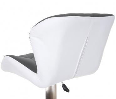 2x Barhocker HWC-A92, Barstuhl Tresenhocker, höhenverstellbar Kunstleder ~ grau, Fuß gebürstet - Vorschau 5