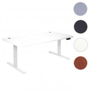 Schreibtisch HWC-D40, Bürotisch Computertisch, elektrisch höhenverstellbar Memory 160x80cm 53kg ~ weiß, weiß
