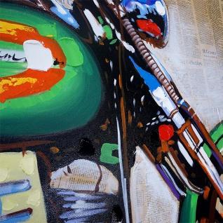 Ölgemälde Motorrad, 100% handgemaltes Wandbild Gemälde XL, 100x80cm - Vorschau 5