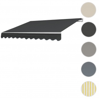 Bezug für Markise T791, Gelenkarmmarkise Ersatzbezug Sonnenschutz, 4, 5x3m ~ Polyester anthrazit