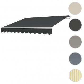 Bezug für Markise T792, Gelenkarmmarkise Ersatzbezug Sonnenschutz, 5x3m ~ Polyester anthrazit