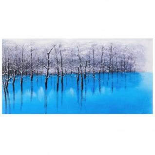 Ölgemälde Blauer See, 100% handgemalt, 140x70cm
