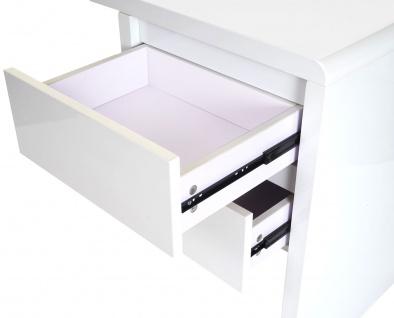 B-Ware Schreibtisch HWC-D74, Computertisch Bürotisch, hochglanz weiß 75x120x50cm - Vorschau 3
