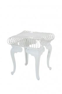 Gartentisch CP301, Metalltisch weiß