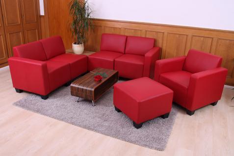 Modular Sofa-System Garnitur Lyon 3-1-1-1 rot - Vorschau 4