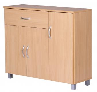 Sideboard A050 Kommode Schrank, 90 x 75 cm mit 3 Türen & 1 Schublade - Vorschau 3