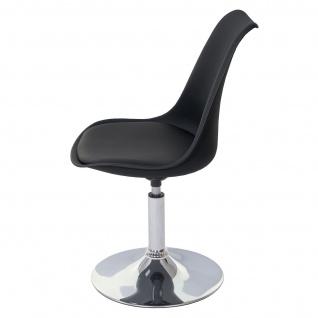 Drehstuhl Malmö T501, Stuhl Küchenstuhl, höhenverstellbar, Kunstleder ~ schwarz, Chromfuß - Vorschau 5