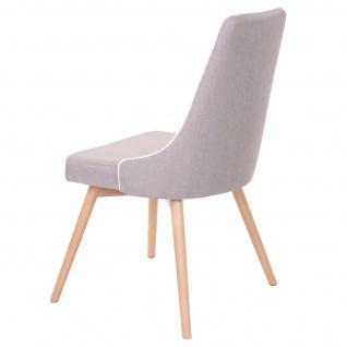 6x Esszimmerstuhl HWC-B44, Stuhl Küchenstuhl, Retro 50er Jahre Design Stoff/Textil grau - Vorschau 5