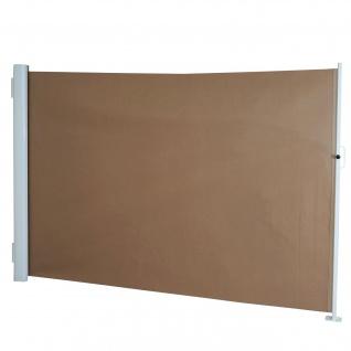 Seitenmarkise T139, Sichtschutz, Alu 1, 8x3m, hellbraun