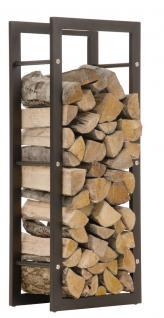 Kaminholzständer CP319, Feuerholzregal 25x40x100 Eisen