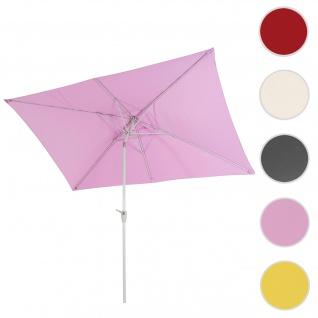 Sonnenschirm N23, Gartenschirm, 2x3m rechteckig neigbar, Polyester/Alu 4, 5kg ~ flieder