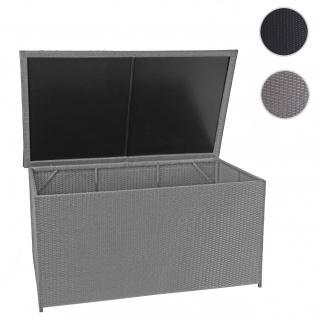 Poly-Rattan Kissenbox HWC-D88, Gartentruhe Auflagenbox Truhe ~ Basic grau, 80x160x94cm 950l