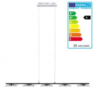LED Pendelleuchte A146, Deckenleuchte Deckenlampe, 25W-LED, 5 LED Panel, EEK A+, verchromt
