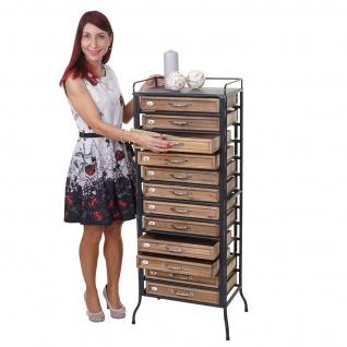 Apotheker-Schrank HWC-A43, Tanne Holz massiv Vintage Shabby-Look 129x55x38cm - Vorschau 2