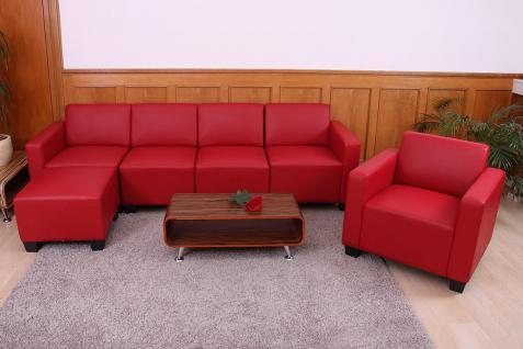 Modular Sofa-System Garnitur Lyon 3-1-1-1 rot - Vorschau 5