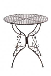 Gartentisch CP320, Metalltisch ~ bronze