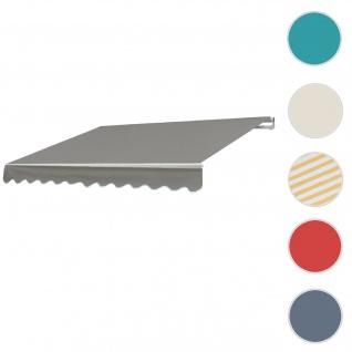 Alu-Markise T792, Gelenkarmmarkise Sonnenschutz 5x3m ~ Polyester, grau-braun