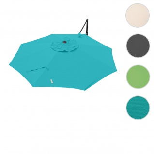 Bezug für Ampelschirm HWC-A39, Sonnenschirmbezug Ersatzbezug, Ø 3, 5m Polyester 250g/m² ~ türkis