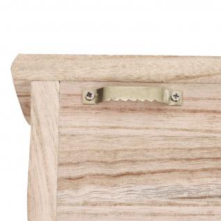 Schlüsselbrett HWC-A48, Schlüsselkasten Schlüsselboard mit Türen, Massiv-Holz ~ natur - Vorschau 5