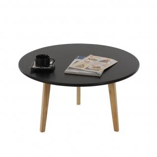 Couchtisch Malmö T259, Wohnzimmertisch Beistelltisch, Retro-Design 45x80x80cm schwarz
