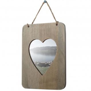 Bilderrahmen Wels, Fotorahmen Holzrahmen Wand-Rahmen, Shabby-Look Landhaus, Herz