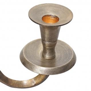 Kerzenleuchter HWC-D81, Kerzenständer Leuchter Kerzenhalter, 5-armig aus Aluminium 80cm massiv 2, 2kg ~ Farbe: Antik Gold - Vorschau 4